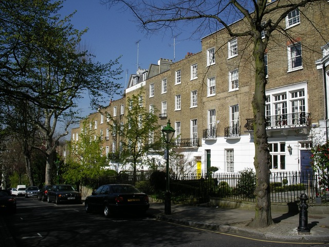 View of Campden Hill Square in London