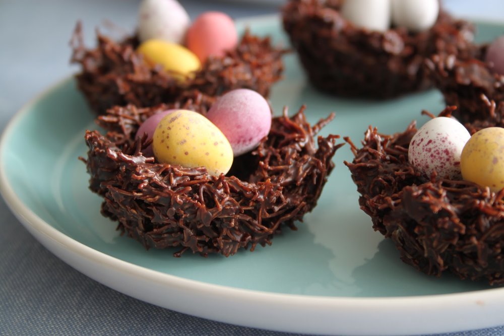 Shredded Wheat Chocolate Nests