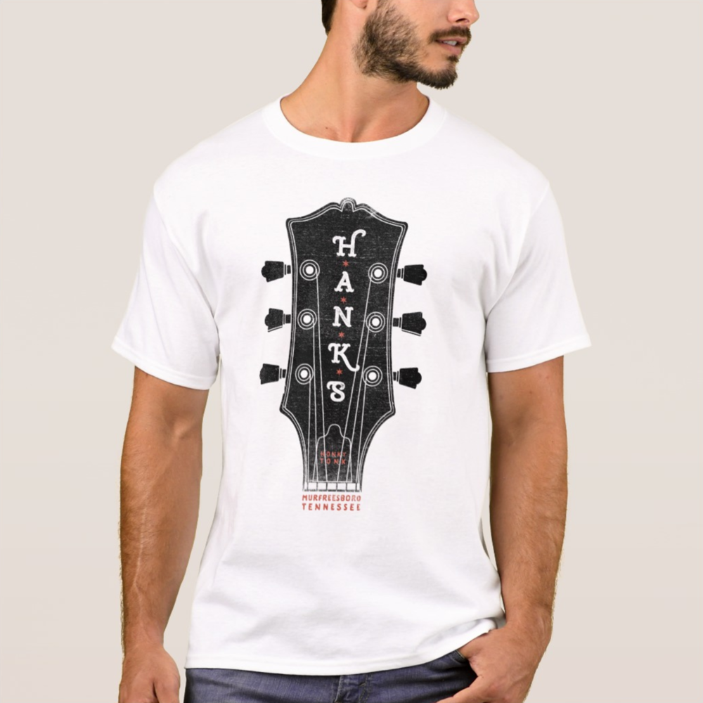 Men's Hank*s Guitar Head Tee | $24.00