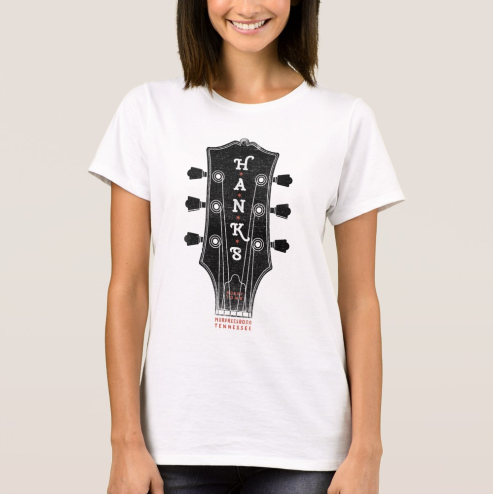 Women's Hank*s Guitar Head Tee | $24.00
