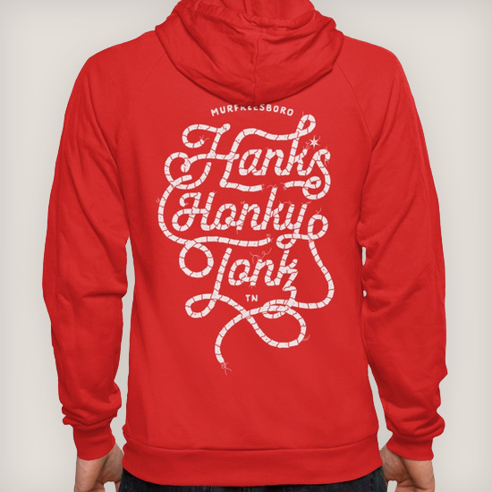 Hank*s White Rope Hoodie | $42.00