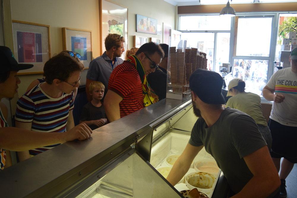 Inside Ripples's Ice Cream