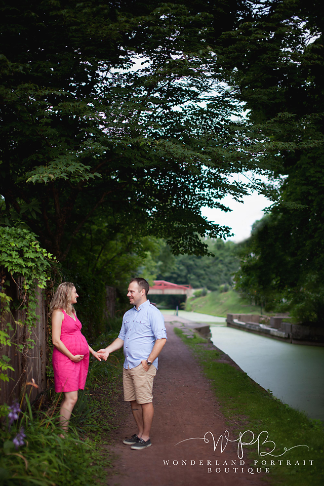 New Hope PA Canal Maternity Session WonderlandPortrait.com
