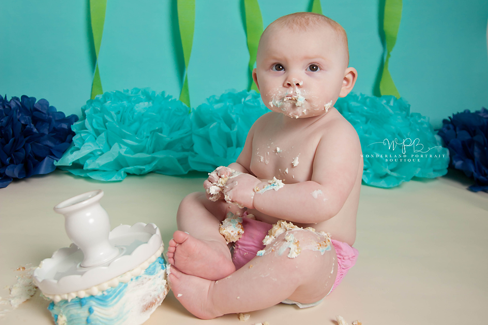 Warrington PA Cake Smash first birthday portraits
