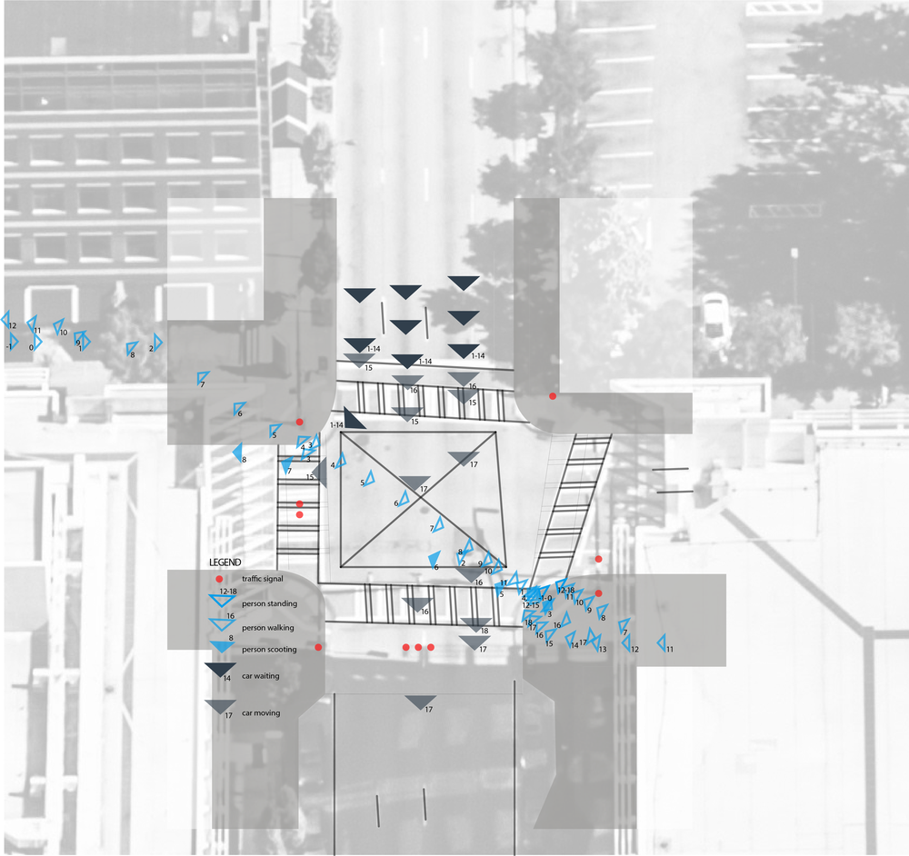 Behavioral map of activities at the intersection of Spring Street and 5th Street in Atlanta, GA.