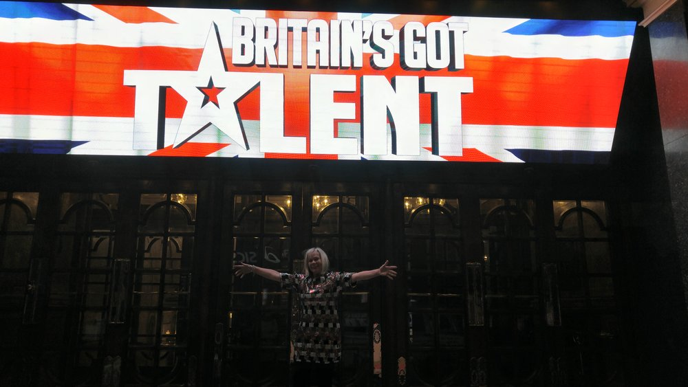 Dizzy outside the Britain's Got Talent auditions 2017