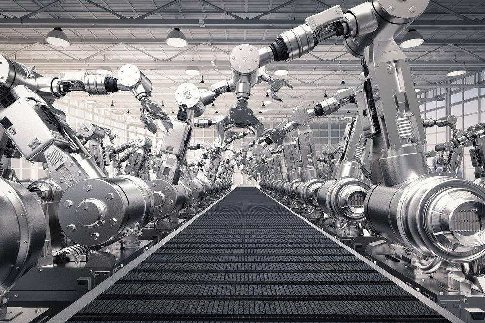 robot arm conveyer belt
