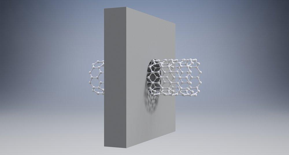 CNT in membrane