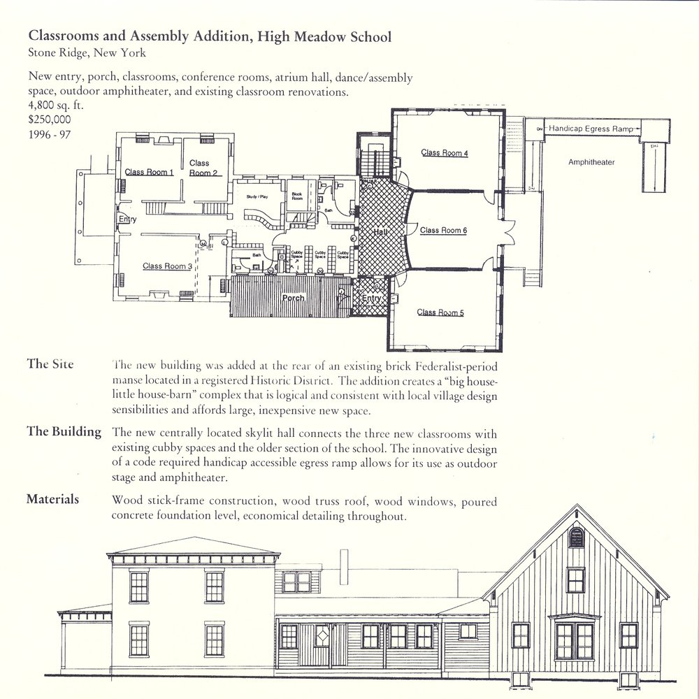 High Meadow School Assembly Building - Stone Ridge, NY