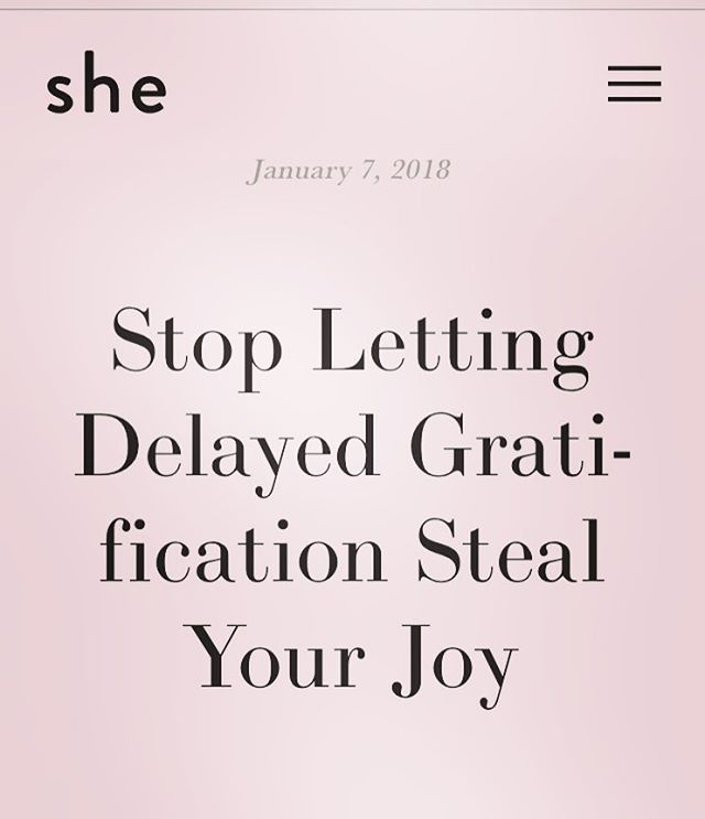 "2️⃣0️⃣1️⃣8️⃣! How lucky we are that we get another year to put our dreams into action. ✨ But if somehow, you're getting stuck chasing goal after goal with no real self-satisfaction, then this article, ""Stop Letting Delayed Satisfaction Steal Your Joy"", is for you. Introducing our newest contributor, and soon-to-be M.D., Maseray Kamara. 👩🏾‍⚕️ Read more pieces by Maseray at the link in our bio #2018  #strongwomen #nyc #starttheyearright"