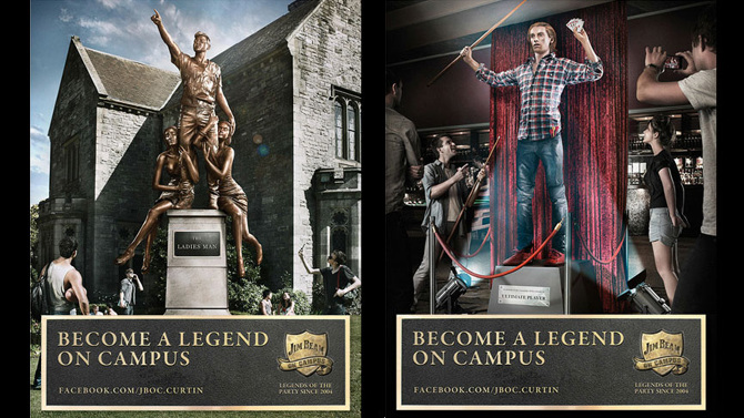 Changed Perceptions for Jim Beam - Legendary university parties and clever initiatives to create new brand associations.