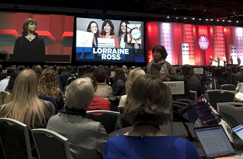 Lorraine Ross, Microquest President & Co-Founder being honored at Watermark Conference for Women 2019