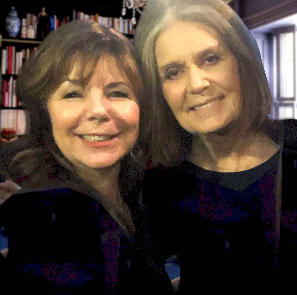 Lorraine in the green room at the Watermark Conference with feminist writer and activist Gloria Steinem