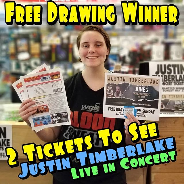 Have fun Lauren & Rob at the #justintimberlake concert courtesy of #EdsFuncade. #eds #concert #summer #wildwood #nj #jerseyshore #boardwalk #giveaway #drawing #beach #skeeball #arcade #theshore #winner