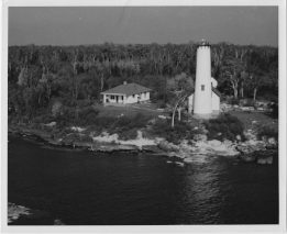 Poverty Island Light Station, around 1953