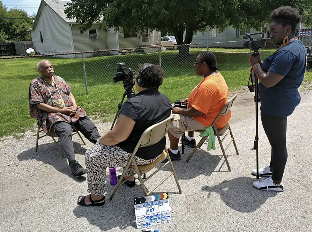 Filming Reginald Petty: Denise Ward-Brown, Janiene Winborne and Yvonne Osei.  July 9, 2016