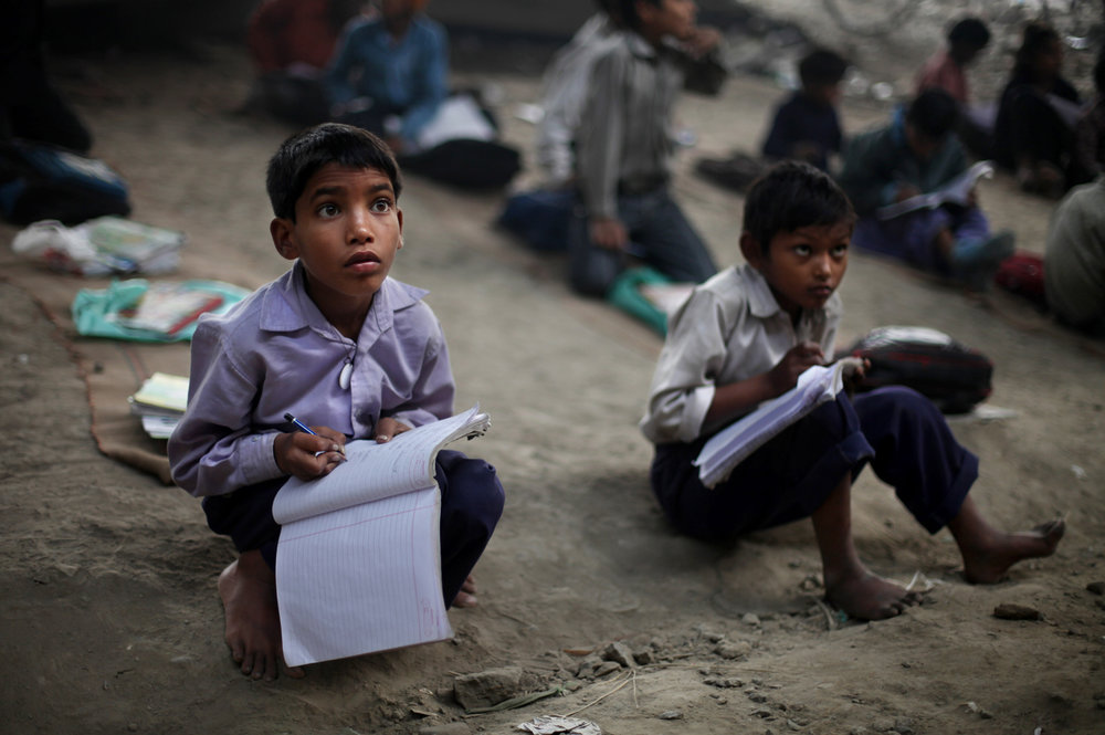 - According to a recent survey by Child Relief and You (CRY), an Indian NGO, 75% of primary and upper primary schools lack basic furniture like benches. Children sit on the floor with their backs hunched for long hours. There is no proper surface to place notebooks and write on. Therefore, it leads to problems like bad handwriting, bad posture and poor eyesight among children.Photo credits: AP Photo/ Altaf Qadri