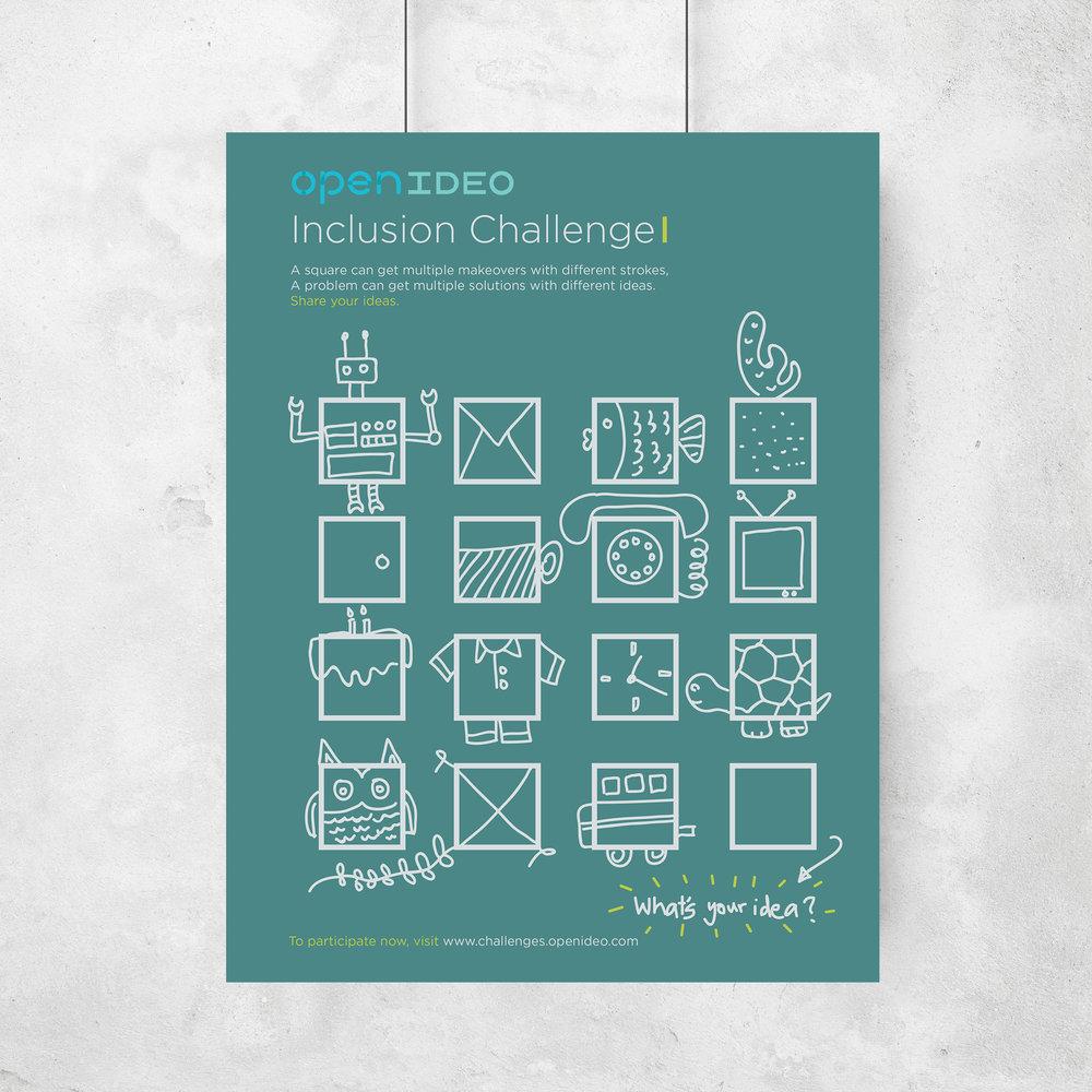 Inclusion Challenge poster — Nikitaa Sivaakumar
