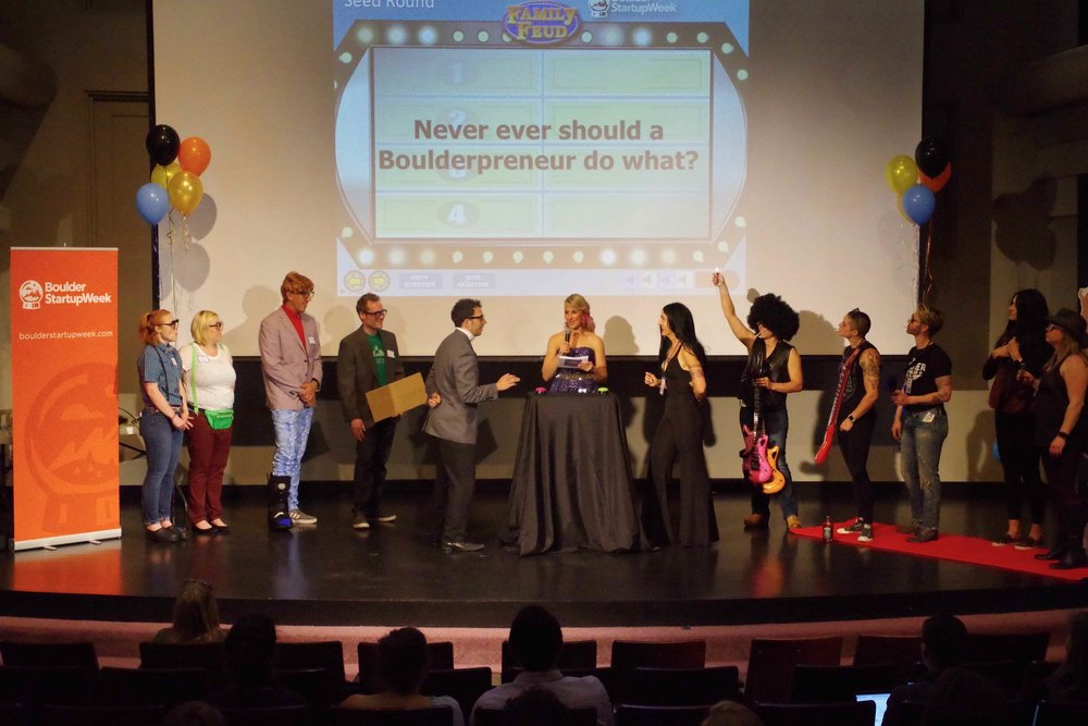 The Startup Family Feud gameshow was a session I designed to get the audience and local startup stars having fun together.
