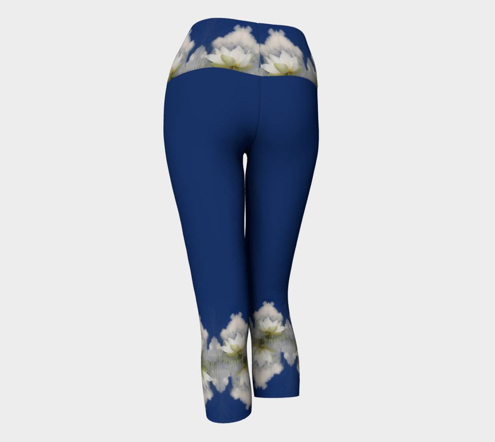 Quan Yin Lotus Flower 2 Yoga Capris Embodywear Fashions