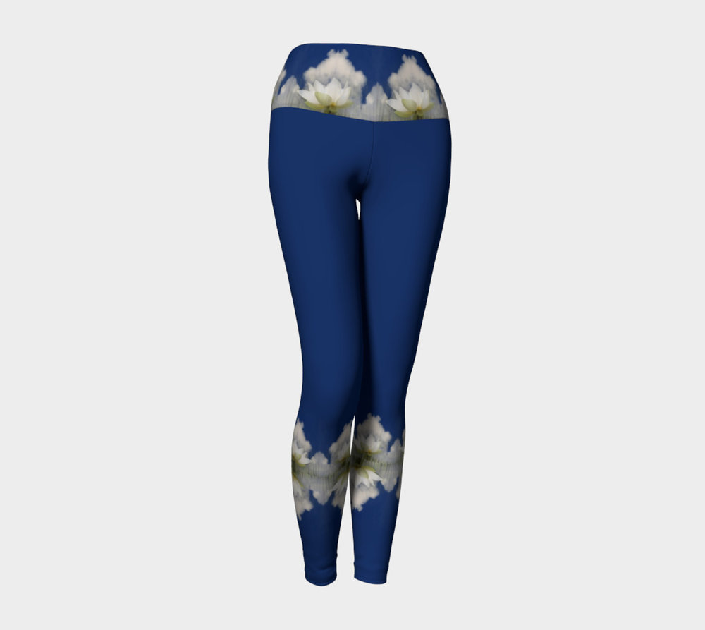 Quan Yin Lotus Blossom 2 Yoga Leggings