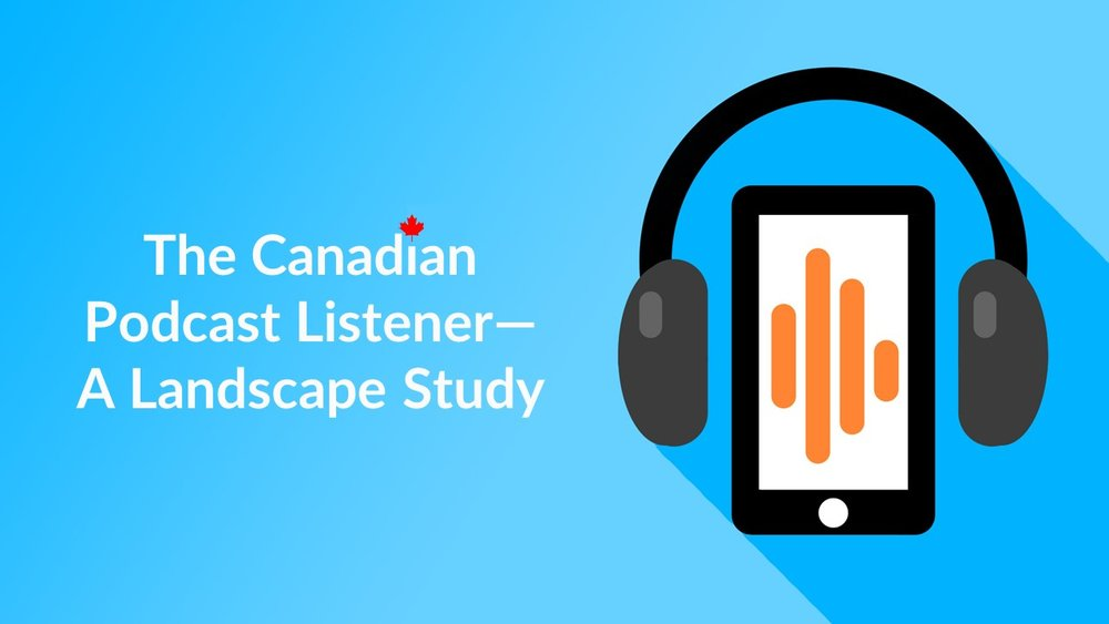 Finally - a comprehensive podcast study about Canadian listeners. -