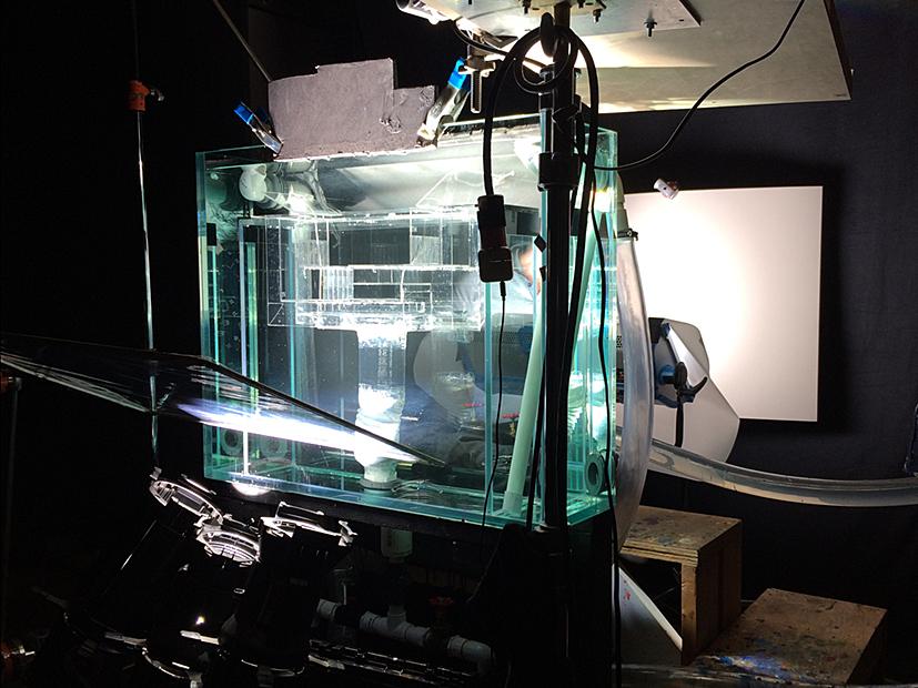 Cloud tank ( in preparation of 'living painting' video shoot)