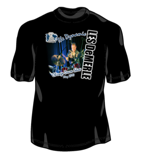 Official Les DeMerle / 2017 Chicago Drum Show T-Shirt