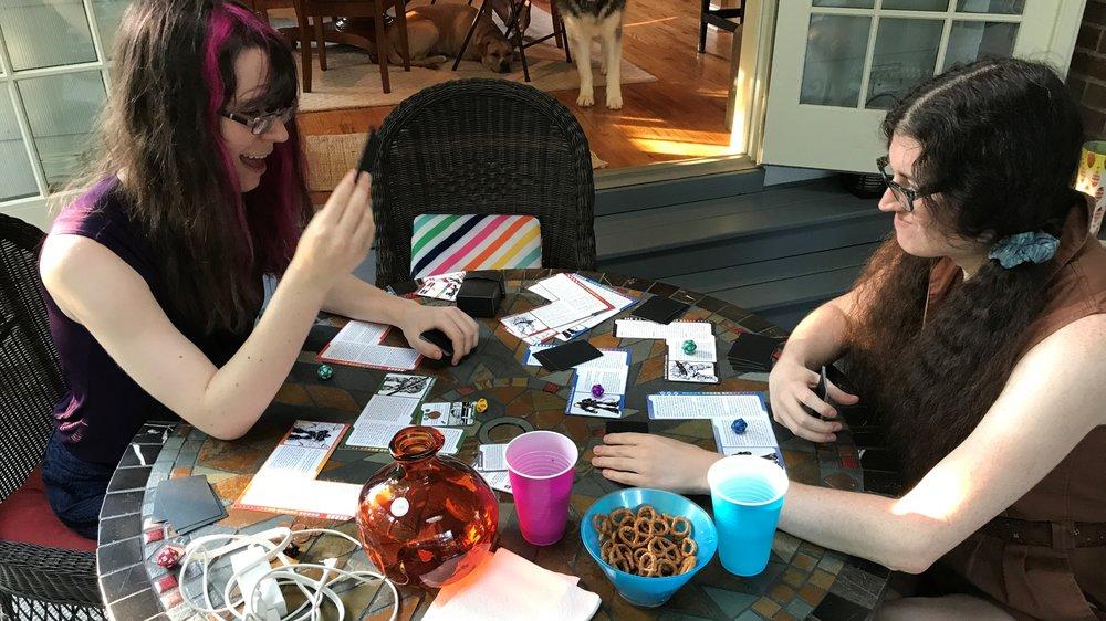 Developer Freya Crowe playtesting CLASH. Photograph: Cathy Carnes/Duzax Studios