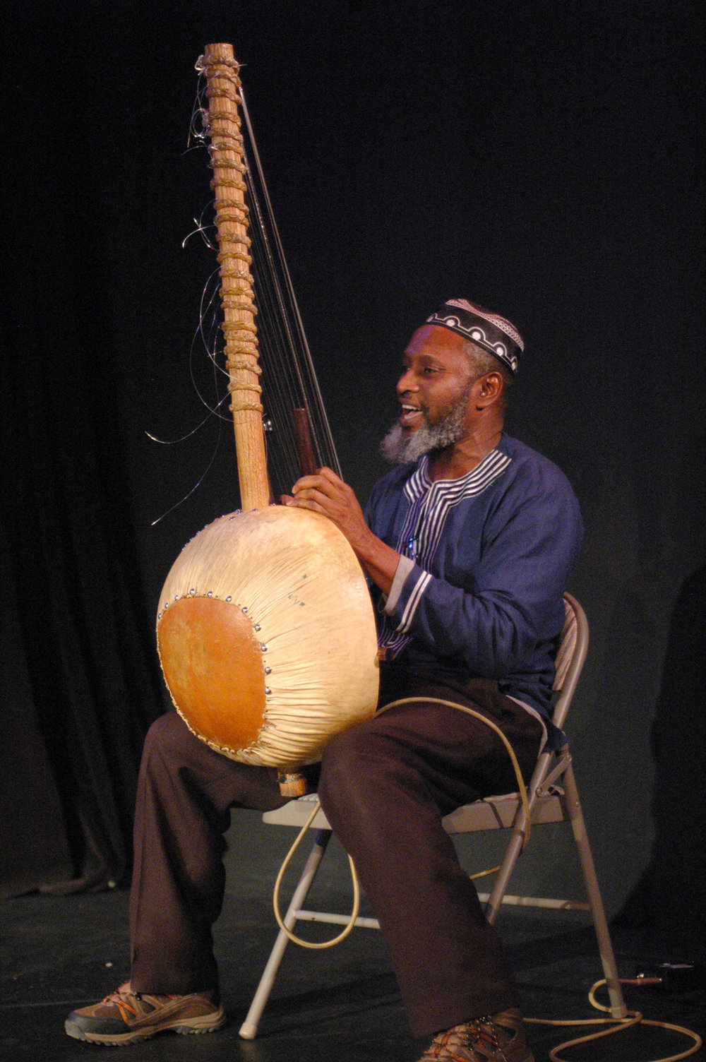 Salieu Suso on the Kora by Elisa Gutierrez