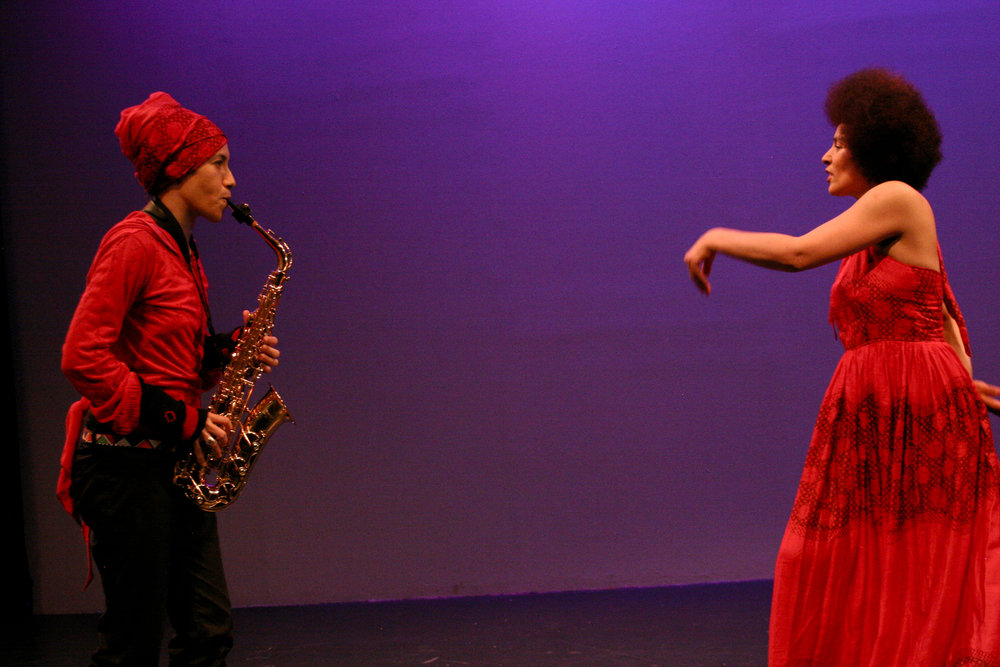 "Oxana Chi and Layla Zami perform in ""Feeling Jazz.""  Photo by Elisa Gutierrez"