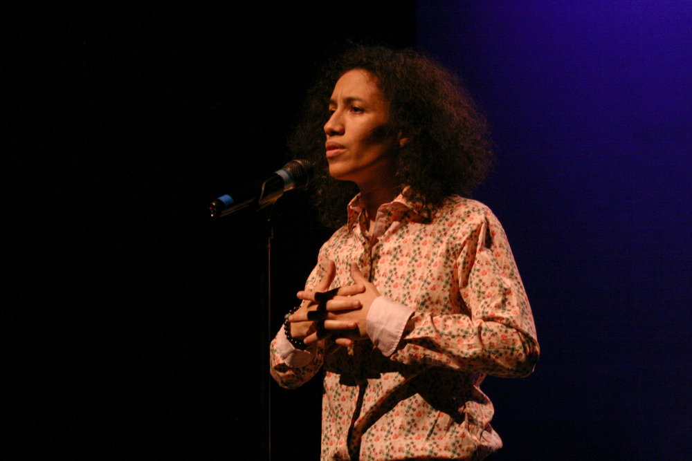 "Layla Zami performs ""Homesong."" Oxana Chi performs in ""Feeling Jazz.""  Photo by Elisa Gutierrez"