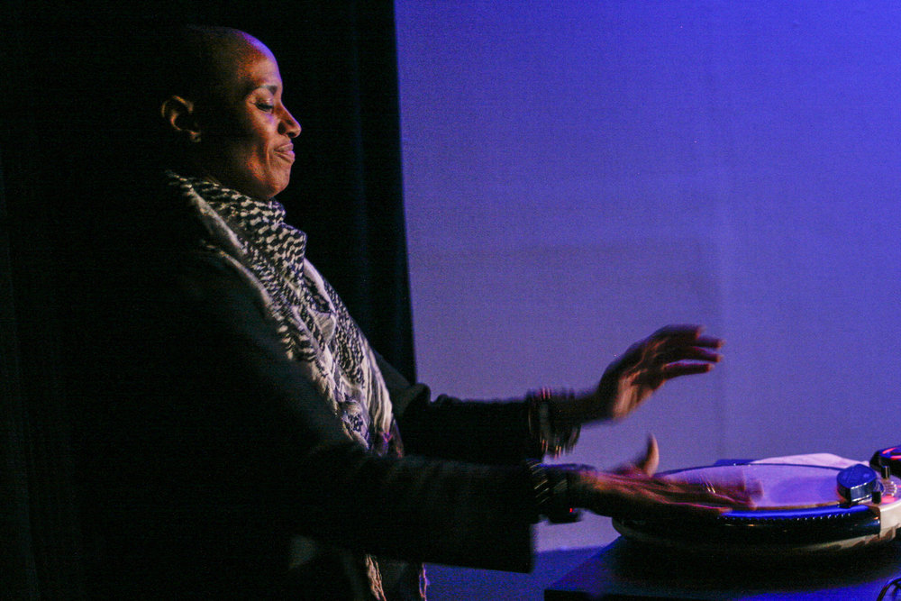 Val Inc. performs her Haitian percussionist, electronic music. Photo by Elisa Gutierrez