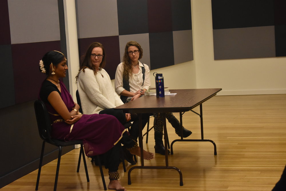 Panel discussion about Eastern v. Western healing traditions, and what each can offer, with Shilpa Darivemula, Erika Lee Sengstack and Kara Ayn Napolitano.