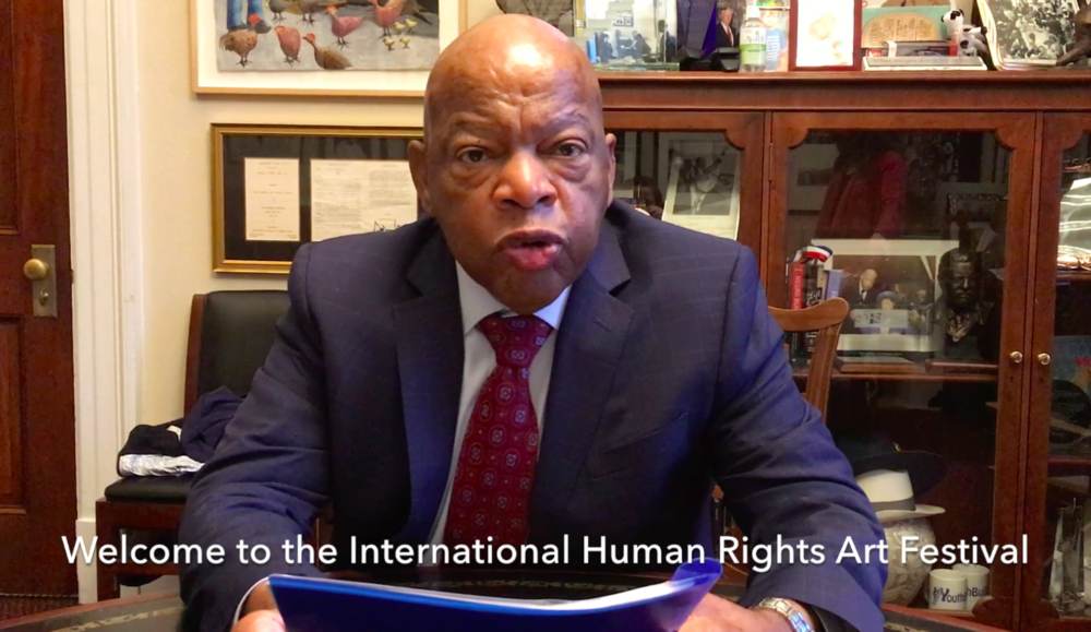 Congresman and Civil Rights hero John Lewis, the youngest of the  Big Six  civil rights leaders as chairman of  SNCC  from 1963 to 1966, has made a video welcome for the 2018 IHRAF at the Wild Project, exploring the importance of art to his activism.  Movie by Mollie Block