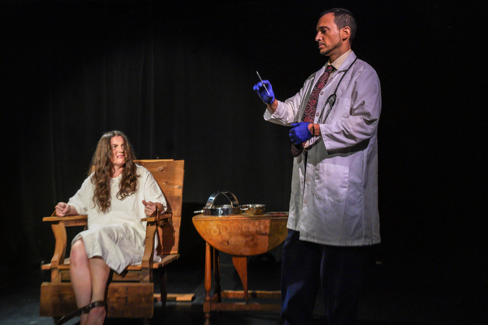 "Rosary Solimanto's ""Mental"" (with ""Doctor"" Ari Gold) explored the treatment of people considered ""ill"" or ""disabled"" in American culture. Photo by Steven Pisano"
