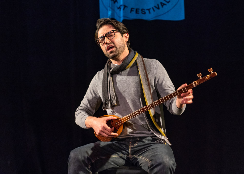 Amin Sarshar played the setar and sang medieval Sufi poetry. Photo by Steven Pisano