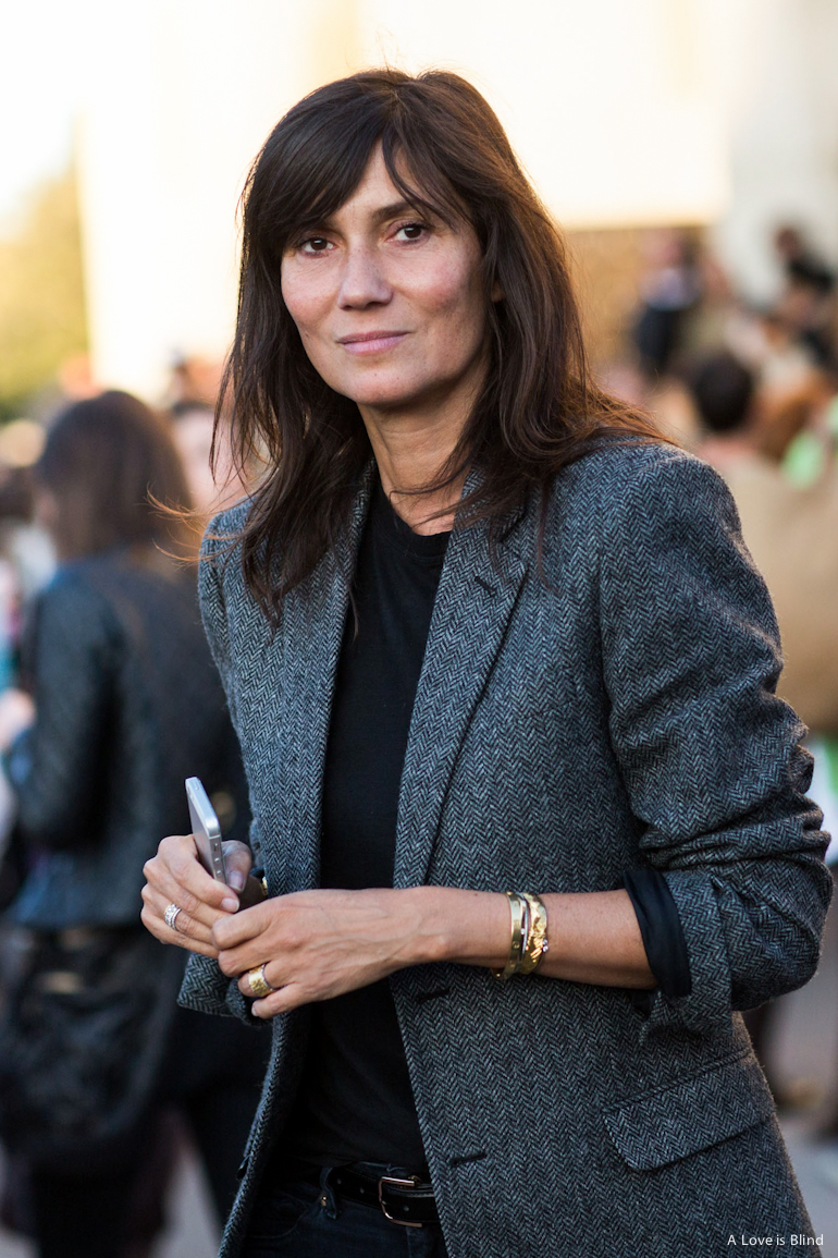 Paris Fashionweek ss2015 day 2, emmanuelle alt