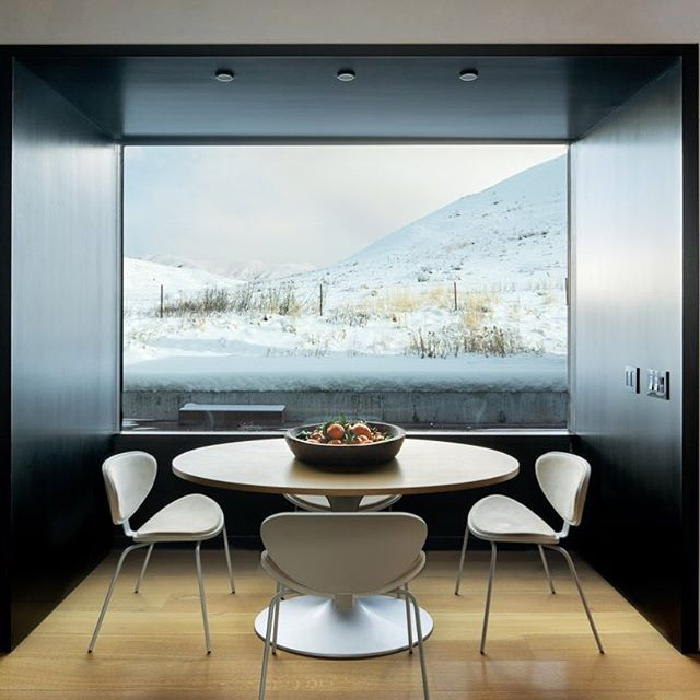 Architect Brad Cloepfil designed this Sun Valley home with its perfect setting for memorable meals.