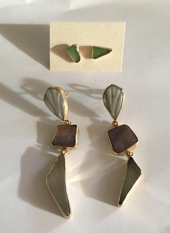 3. AFTER- 18K earrings,