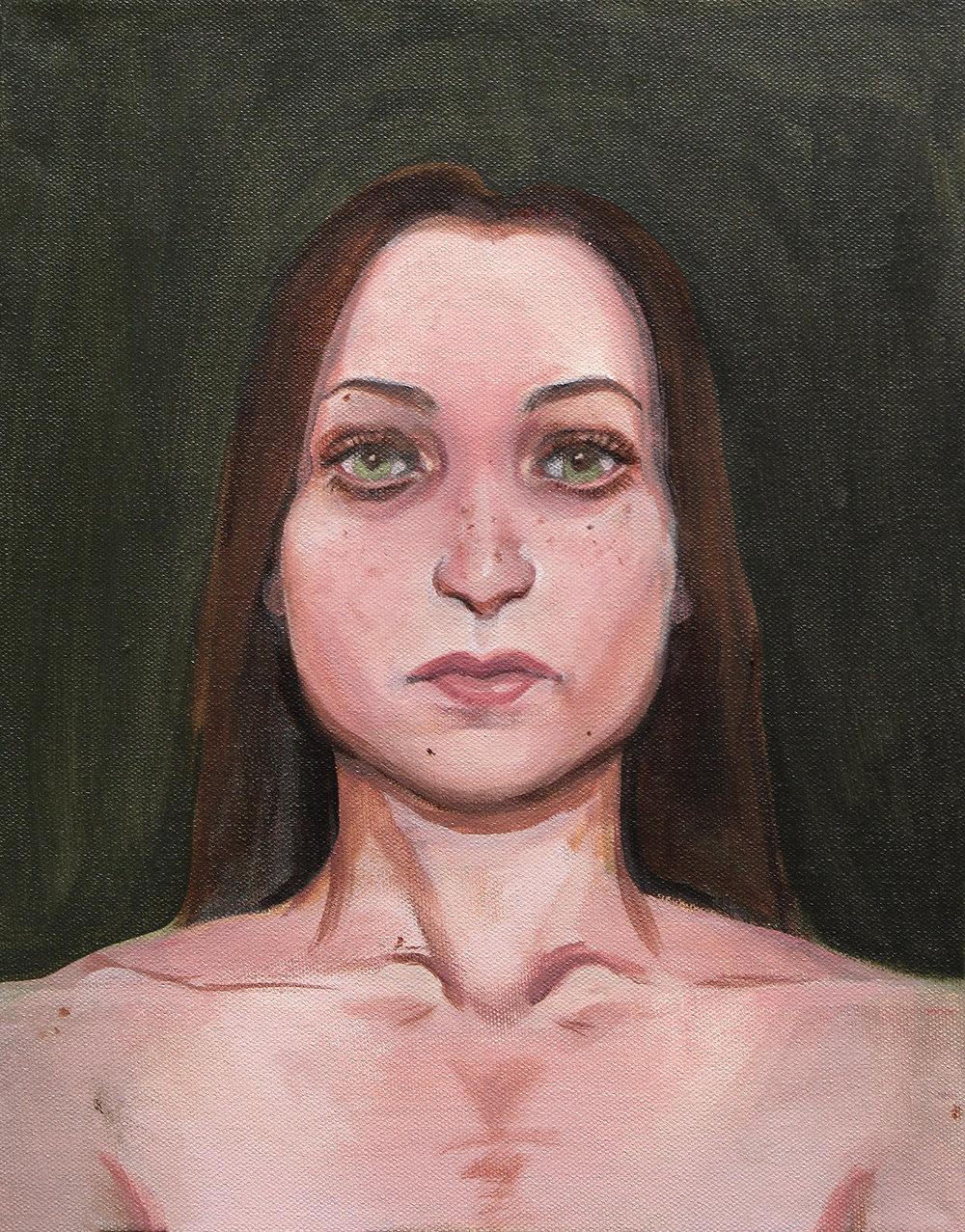 "Cara Y Cruz (Diptych) , Acrylic on canvas, 14"" x 11"""