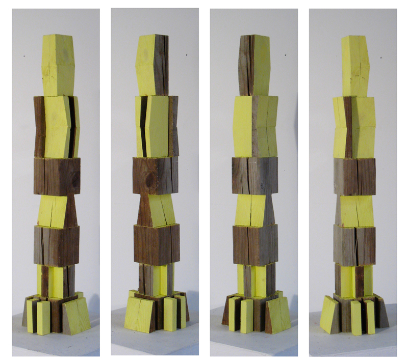 Man sculpture: four different views