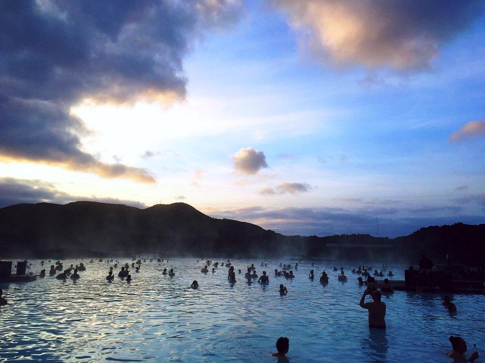 Morning at the Blue Lagoon in Iceland