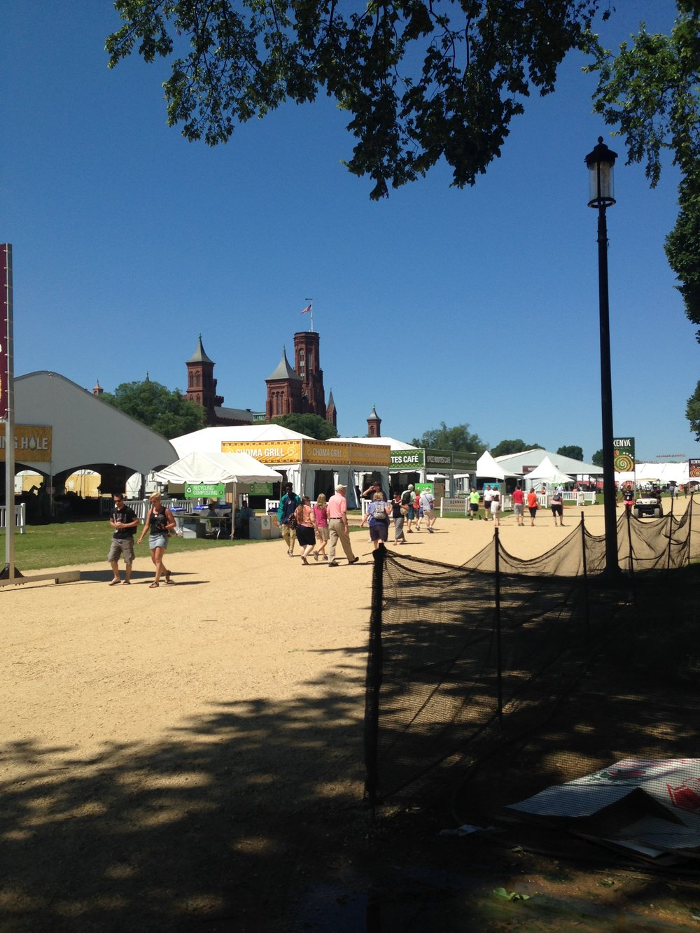 The Smithsonian Folklife Festival spreads out on the National Mall.