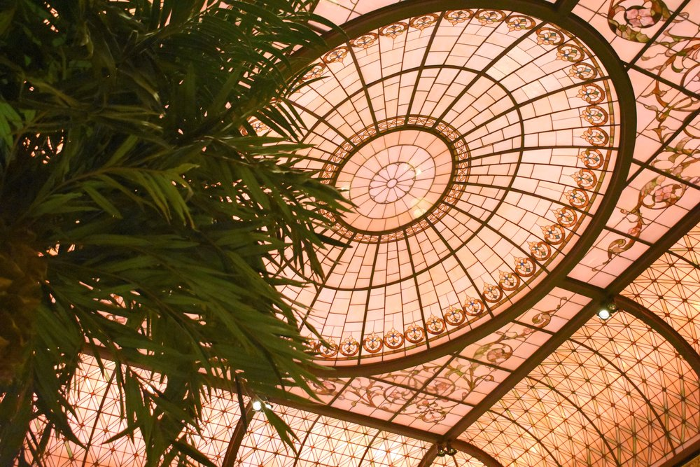 Detail of the ceiling at the Palm Court. Could you NOT.