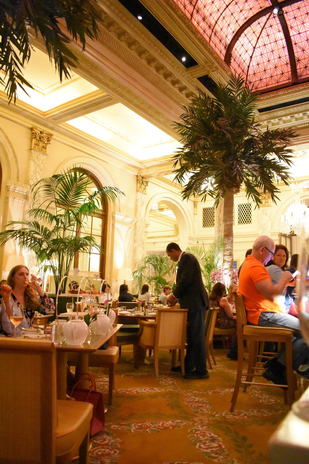 Tea at the Palm Court at the Plaza Hotel in New York City.