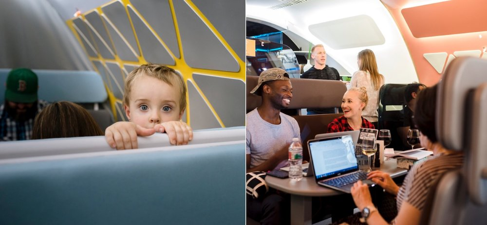 Prototype Testing  Family pod and co-working space.  Images courtesy of Airbus Flytranspose.