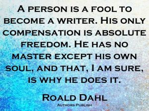 on writing roald dahl