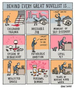 behind every great novelist