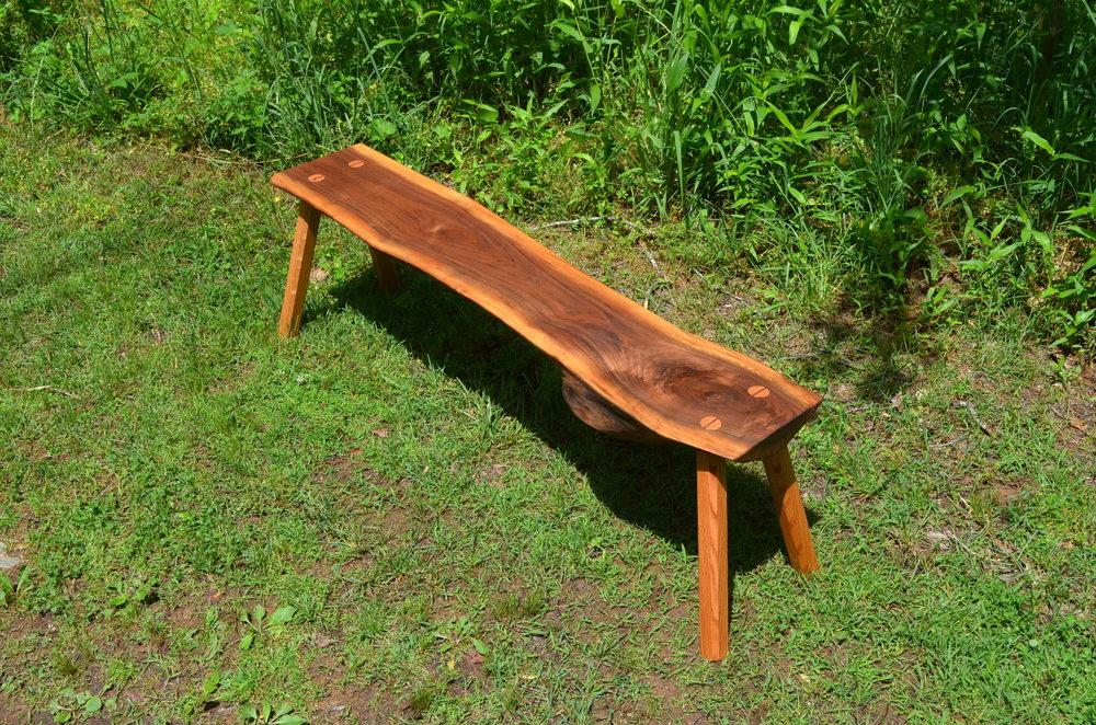 Walnut Bench   $300 (sold)
